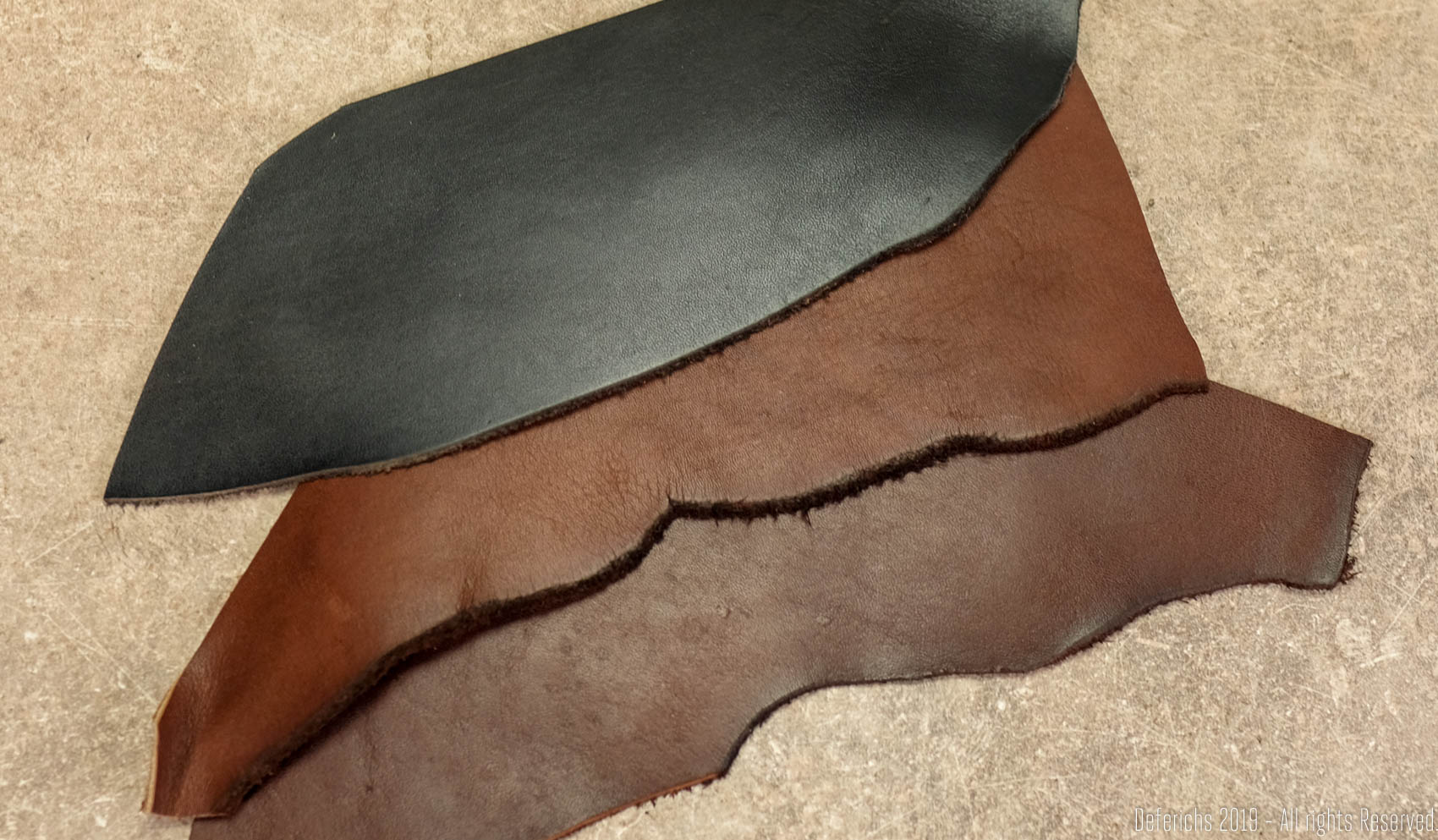 Vegetable Tanned Leather color choices