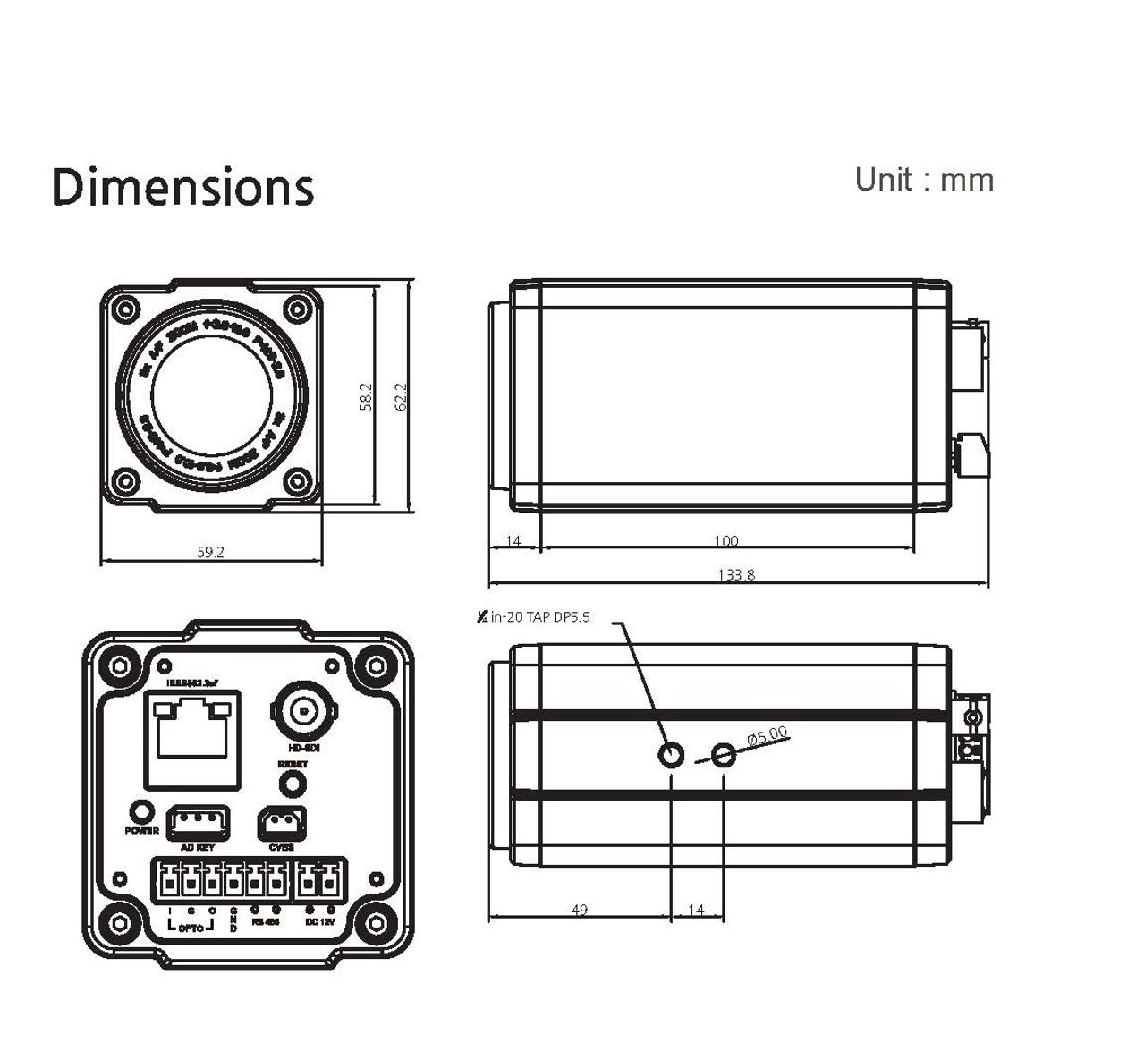 Blue Mango BMH-HG25 Dimensions