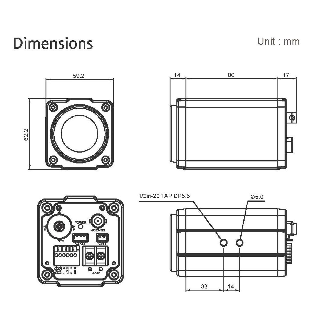 BMH-S29Q Dimensions