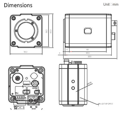 BMH-S18 Dimensions