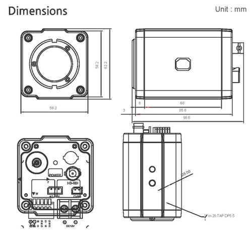 BMH-S18 Dimensions