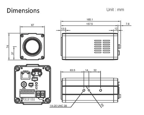 BMH-H308 Dimensions