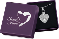 Heart Pawprint Keepsake Pendant