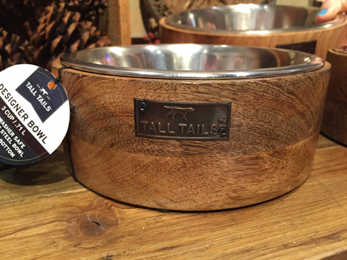 Tall Tails Designer Wood Bowl