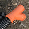 Use orange 110mm sewer fittings for connections