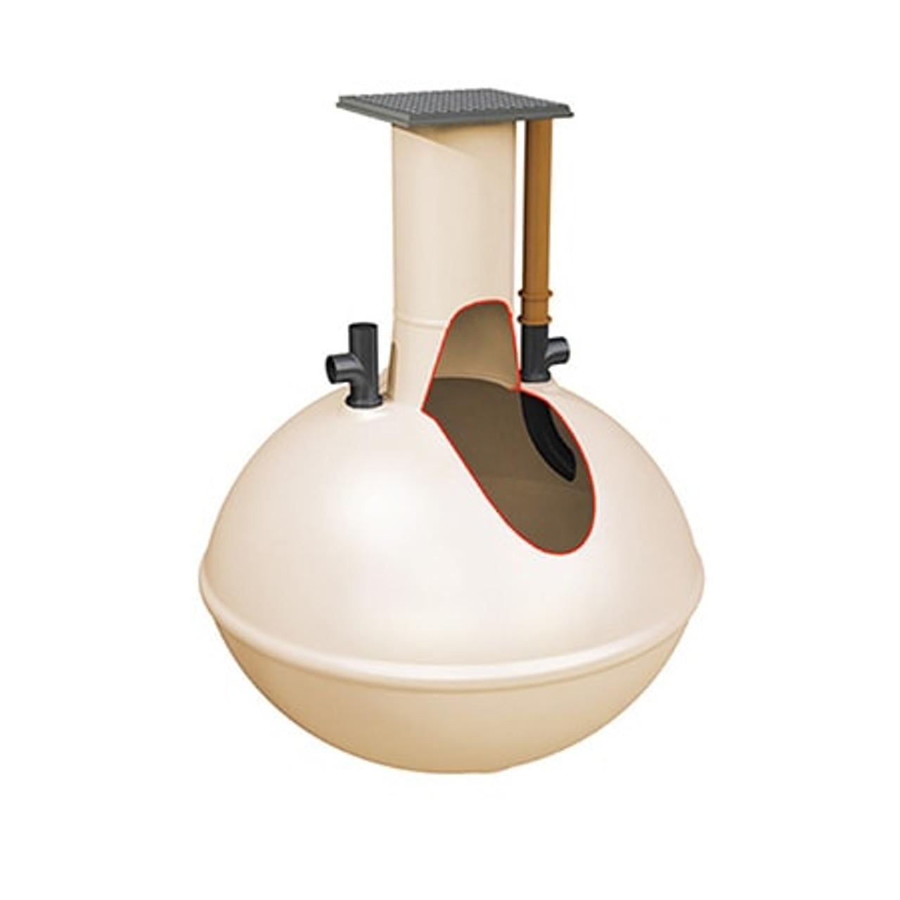 300 gallon spherical septic tank