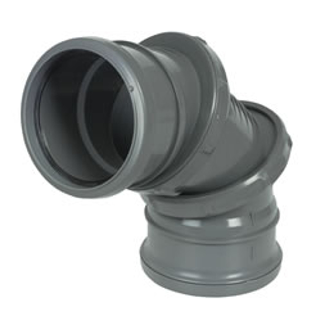 0-90dg Adjustable Double Socket Soil Bend