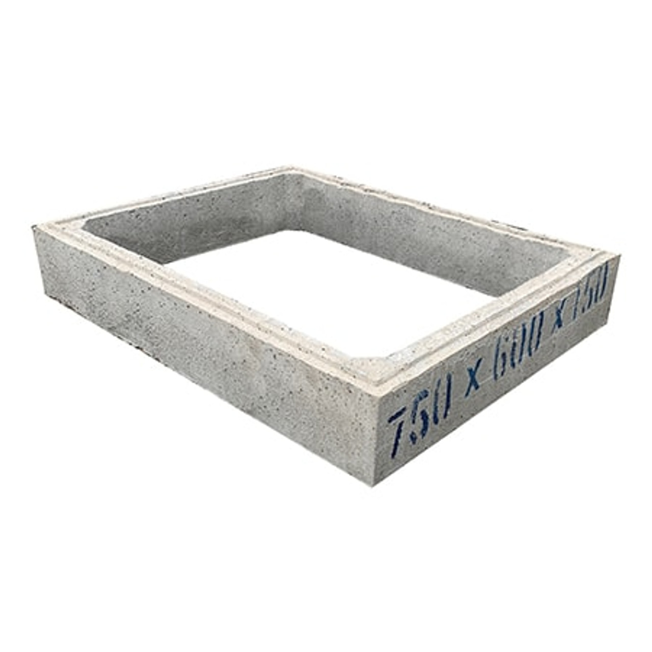 750mm x 600mm x 150mm precast concrete chamber section.