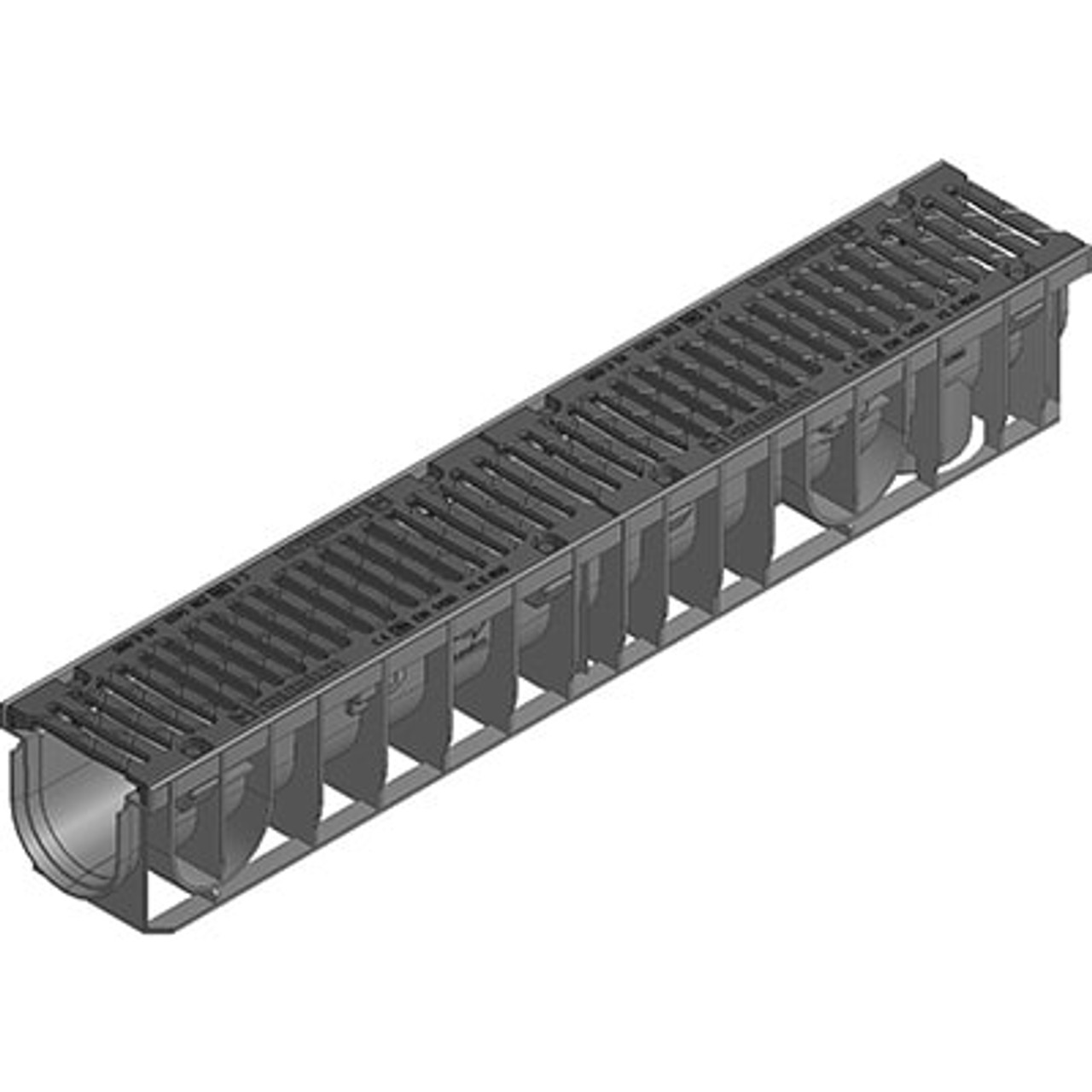 RECYFIX NC 100 channel drain with ductile iron grating. E600 loading.