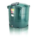 1,300 litre Atlas Bunded Vertical Oil Tank.