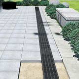 TOPX Composite Mesh channel drain in flag paving.