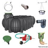 7,500 litre GRAF Platin Garden-Comfort Rainwater Harvesting System.