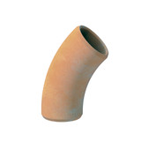45dg Densleeve Plain End Clay Pipe Bend.
