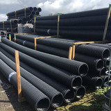 225mm unperforated twinwall pipe- stock on pallet