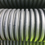 225mm unperforated twinwall pipe- close up