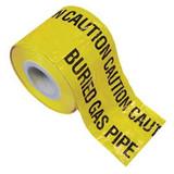 Yellow Gas Warning Marker Tape