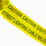 Yellow Street Lighting Warning Marker Tape