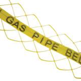 Detectable gas marker tape detectamesh.