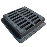 225mm x 225mm Hinged Flat Top Yard Gully Grate & Frame
