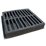 325mm x 325mm Hinged Flat Top Yard Gully Grate & Frame