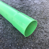 Single socket of PVC-U green 90/96.5mm green ducting.