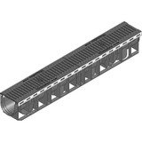 RECYFIX PLUS 100 channel drain with ductile iron heelsafe grating. D400 loading.