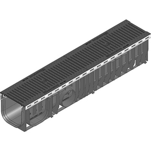 RECYFIX PLUS 150 channel drain with ductile iron heelsafe grating. D400 loading.