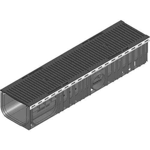 RECYFIX PLUS 200 channel drain C250 with heelsafe ductile iron grating.