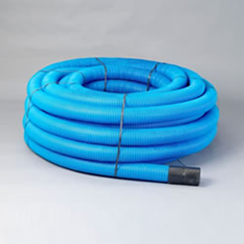 50/63mm Blue Water Pipe Ducting Coil (50m)