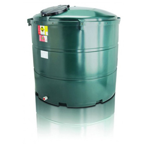 2,300 litre Atlas Bunded Vertical Oil Tank.