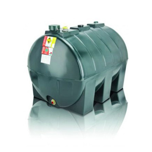 1,300 litre Atlas Single Skin Horizontal Oil Tank.