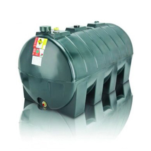 2,500 litre Atlas Single Skin Horizontal Oil Tank.