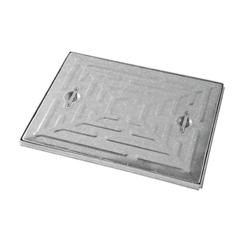 600mm x 450mm WREKiN Galvanised 2.5tn Solid Top S/S Manhole Cover & Frame