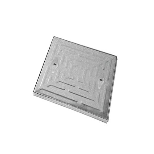 450mm x 450mm WREKiN Galvanised 10tn Solid Top S/S Manhole Cover & Frame.