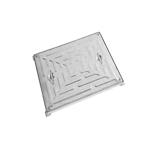 600mm x 600mm WREKiN Galvanised 2.5tn Solid Top D/S Manhole Cover & Frame.