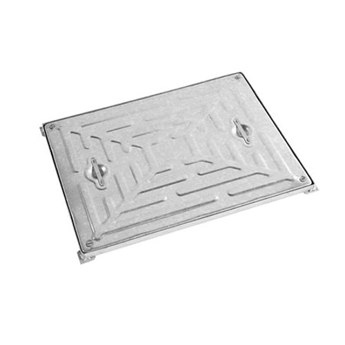 600mm x 450mm WREKiN Galvanised 5tn Solid Top D/S Manhole Cover & Frame.