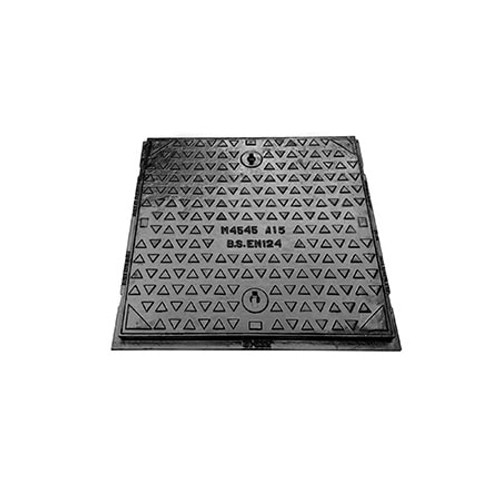450mm x 450mm Cast Iron A15 WREKiN Single Seal Non-Kitemarked Access Cover.