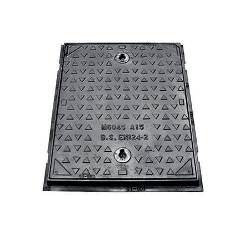 600mm x 450mm Cast Iron A15 WREKiN Single Seal Non-Kitemarked Access Cover.
