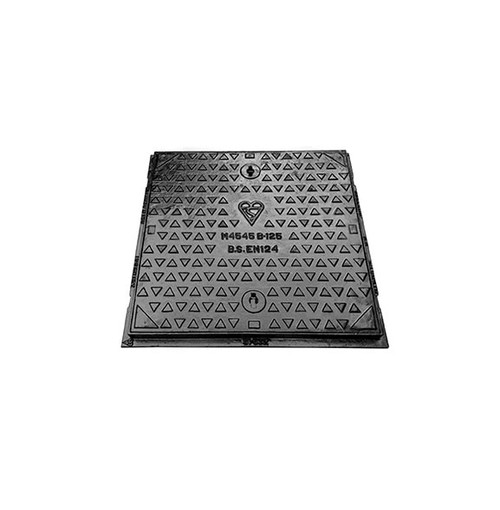 450mm x 450mm x 40mm Ductile Iron B125 WREKiN Single Seal Solid Top Access Cover.