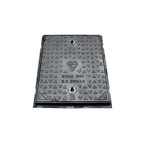 600mm x 450mm x 40mm Ductile Iron B125 WREKiN Single Seal Solid Top Access Cover.