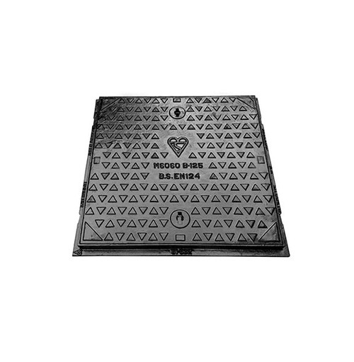 600mm x 600mm x 40mm Ductile Iron B125 WREKiN Single Seal Solid Top Access Cover.
