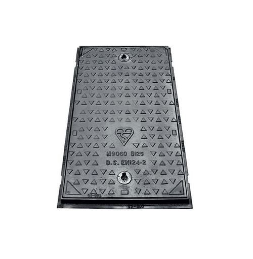 900mm x 600mm x 75mm Ductile Iron B125 WREKiN Single Seal Solid Top Access Cover.