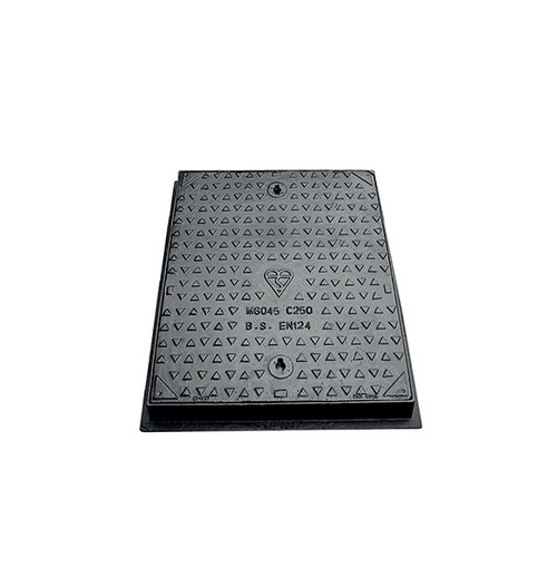600mm x 450mm Ductile Iron C250 WREKiN Single Seal Solid Top Access Cover.