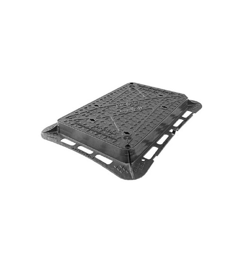 750mm x 600mm Ductile Iron D400 WREKiN Highway Access Cover.