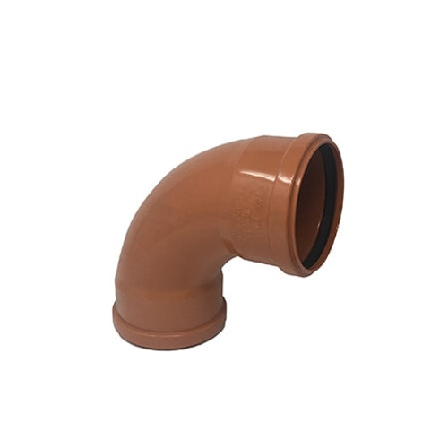 110mm 87.5dg Double Socket Long Radius Drainage Bend.