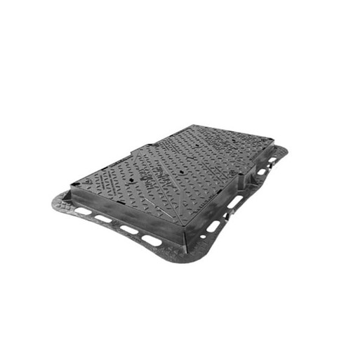 1220mm x 675mm Ductile Iron D400 WREKiN Highway Access Cover.