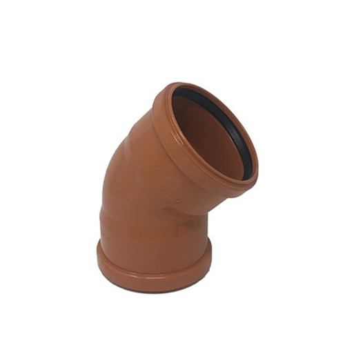 110mm 45dg Double Socket Drainage Bend.