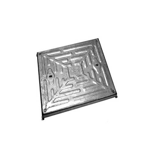 600mm x 600mm Galvanised 10tn Solid Top Double Seal WREKiN Manhole Cover & Frame.