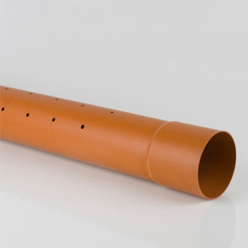 Perforated sewer drainage pipe.