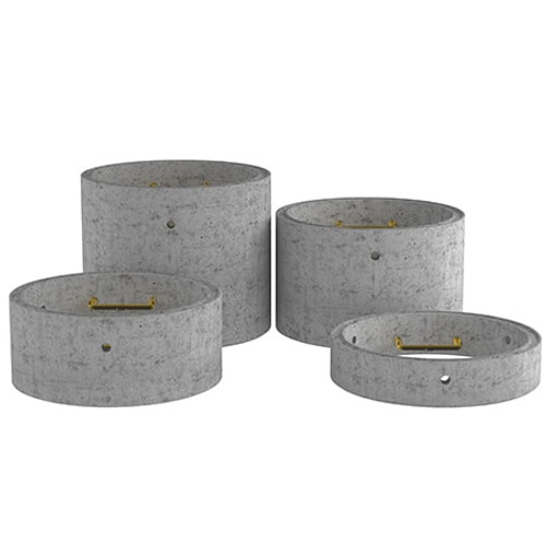 1050mm Concrete Manhole Chamber Ring - Double Step Range.